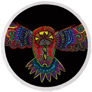 Owl 1 Round Beach Towel