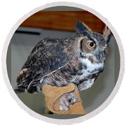 Owl Together Now Round Beach Towel by LeeAnn McLaneGoetz McLaneGoetzStudioLLCcom