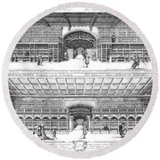 Oxford: Bodleian Library Round Beach Towel