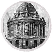 Oxford: Radcliffe Library Round Beach Towel