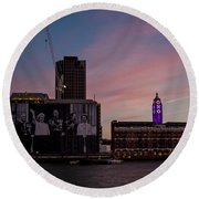 Oxo Tower And Royal Family Round Beach Towel