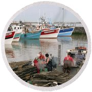 Oyster Harvest Round Beach Towel