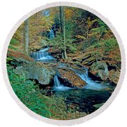Ozone Falls And Rapids Round Beach Towel