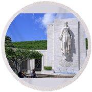 Pacific Theater War Memorial - Honolulu Round Beach Towel