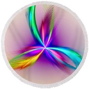 Pacock-feathers Round Beach Towel