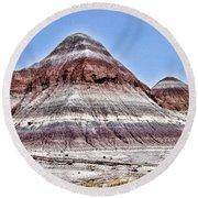 Painted Desert Mounds Round Beach Towel