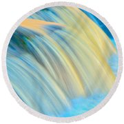 Painted Falls Round Beach Towel