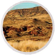 Painted Hills In Sheep Rock Round Beach Towel