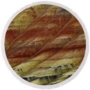 Painted Hills Lines Round Beach Towel