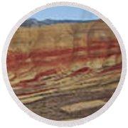 Painted Hills Panoramic Round Beach Towel
