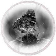 Painted Lady 1 Round Beach Towel