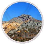 Painted Mountains Round Beach Towel
