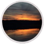 Painted Picture Perfect Round Beach Towel