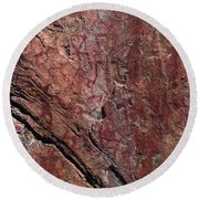 Painted Rocks At Hossa With Stone Age Paintings Round Beach Towel