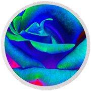 Painted Rose 2 Round Beach Towel