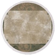 Paisly Print Greeting Card Blank Round Beach Towel