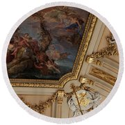 Palace Ceiling Detail Round Beach Towel