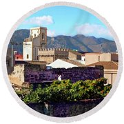 Palermo View Round Beach Towel