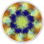 Pallet Of Colors Round Beach Towel