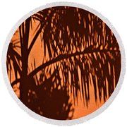 Palm Frond Abstract Round Beach Towel