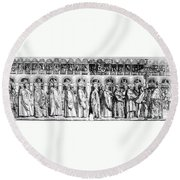 Palm Sunday Procession Round Beach Towel