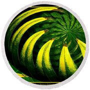 Palm Tree Abstract Round Beach Towel