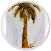 South Carolina Palm Tree Round Beach Towel