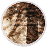 Palm Trunk Round Beach Towel