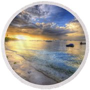 Panglao Island Sunrise Round Beach Towel