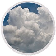 Panoramic Clouds Number 1 Round Beach Towel