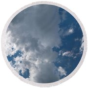Panoramic Clouds Number 1o Round Beach Towel