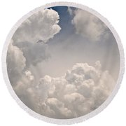 Panoramic Clouds Number 9 Round Beach Towel
