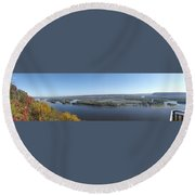 Panoramic Mississippi Round Beach Towel