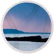 Panoramic View Of Skerries Islands Round Beach Towel