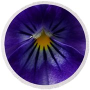 Pansy Abstract Round Beach Towel