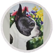 Pansy Round Beach Towel