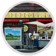Papaya King Round Beach Towel