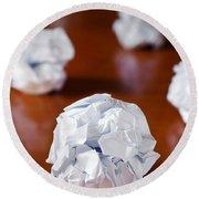Paper Balls Round Beach Towel by Carlos Caetano