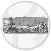 Paper Machine, C1880 Round Beach Towel