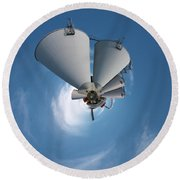 Paper Mill In The Sky Round Beach Towel