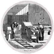 Papermaking, 1833 Round Beach Towel