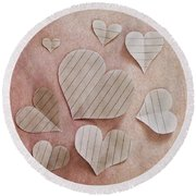 Papier D'amour Round Beach Towel