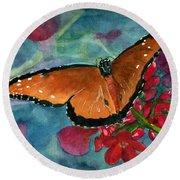 Papilio Fandango  Round Beach Towel