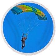 Parachuting Round Beach Towel
