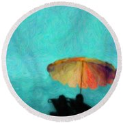 Paradise By The Sea Round Beach Towel