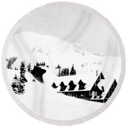 Paradise Inn Buried In Snow, 1917 Round Beach Towel by Science Source