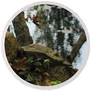 Paradise Springs Reflections Round Beach Towel
