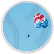 Parasailers Over Marco Round Beach Towel