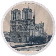 Paris - Notre Dame Round Beach Towel