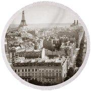 Paris: Aerial View, 1900 Round Beach Towel